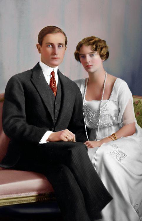 Felix Yusupov con la consorte principessa Irina Alexandrova