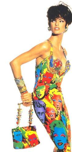 Gianni Versace 1990 Modella Linda Evangelista