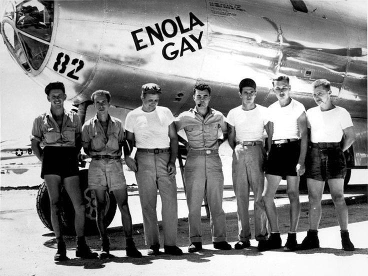 i ragazzi che sganciarono la bomba atomica su Hiroshima