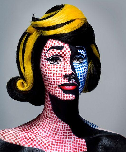 Lichtenstein pop art makeup and hair