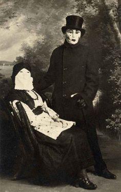 una spaventosa coppia fotografata nel 1910