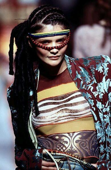 Helena Christensen - Jean Paul Gaultier 1996