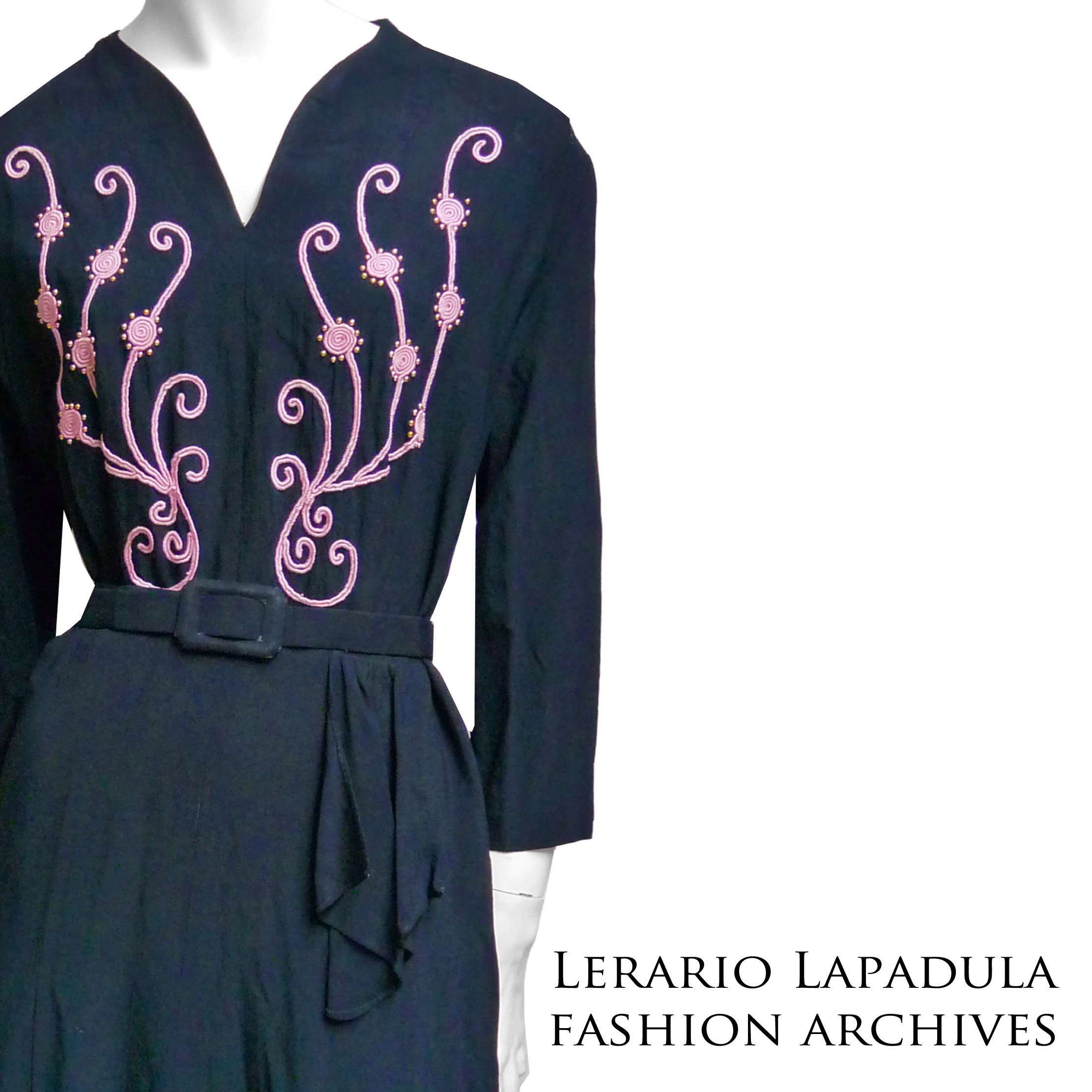 1938-dress-vintage-abito-vestito-30s-robe-wwii-40s-lerario-lapadula-fashion-museum-archives-schiaparelli