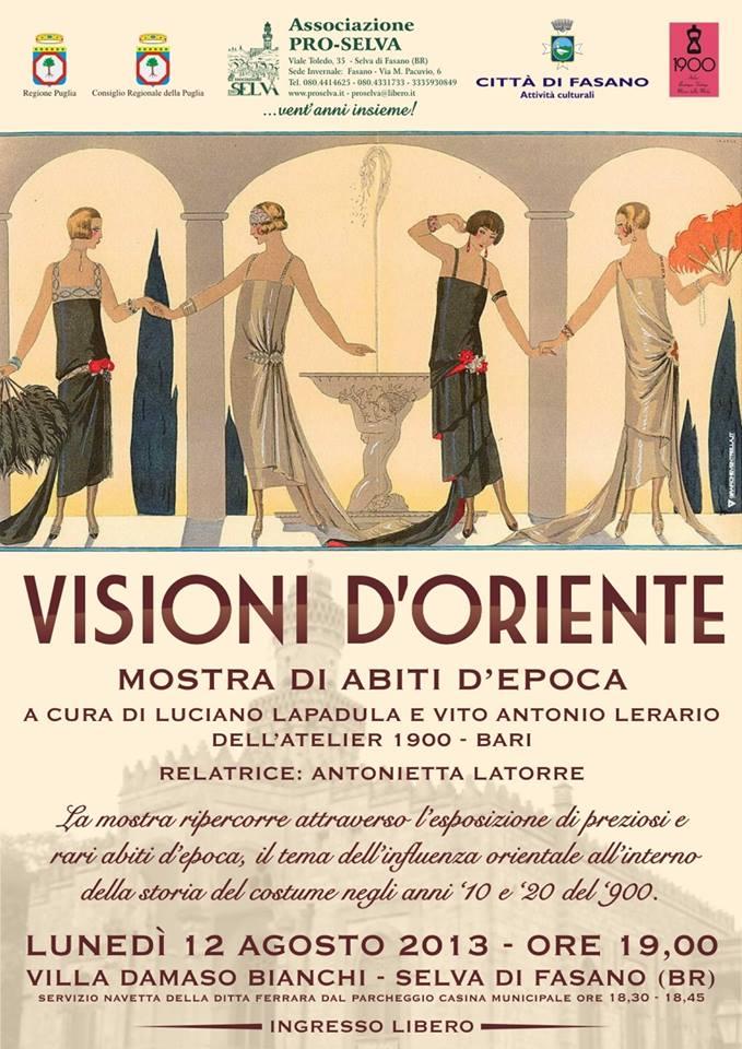 locandina-lerariolapadula-visioni-d-oriente-mostra-fai-selva-di-fasano-minareto-villa-damaso-bianchi-fashion-exhibition-2013