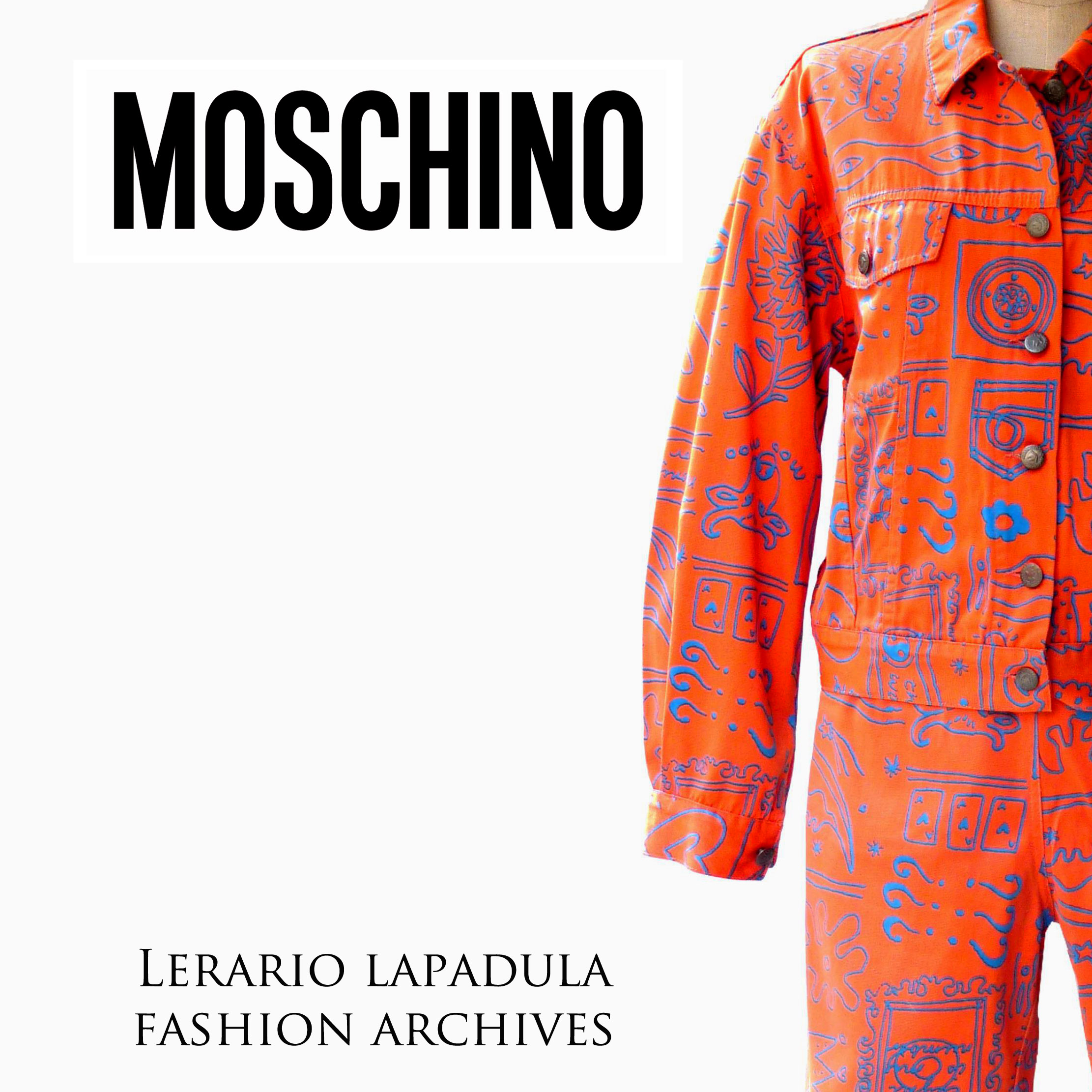 moschino-lerario-lapadula-fashion-archives-denim-jumper-fluo-1989-80s-1990-technotronic-suit-acid-house-dress-vintage-80er-90s