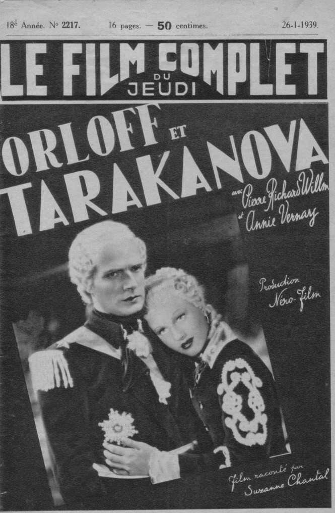 Tarakanova movie 1938 french editions