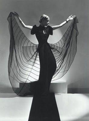 Helen Bennett, Spider Dress, 1939 by Horst P. Horst