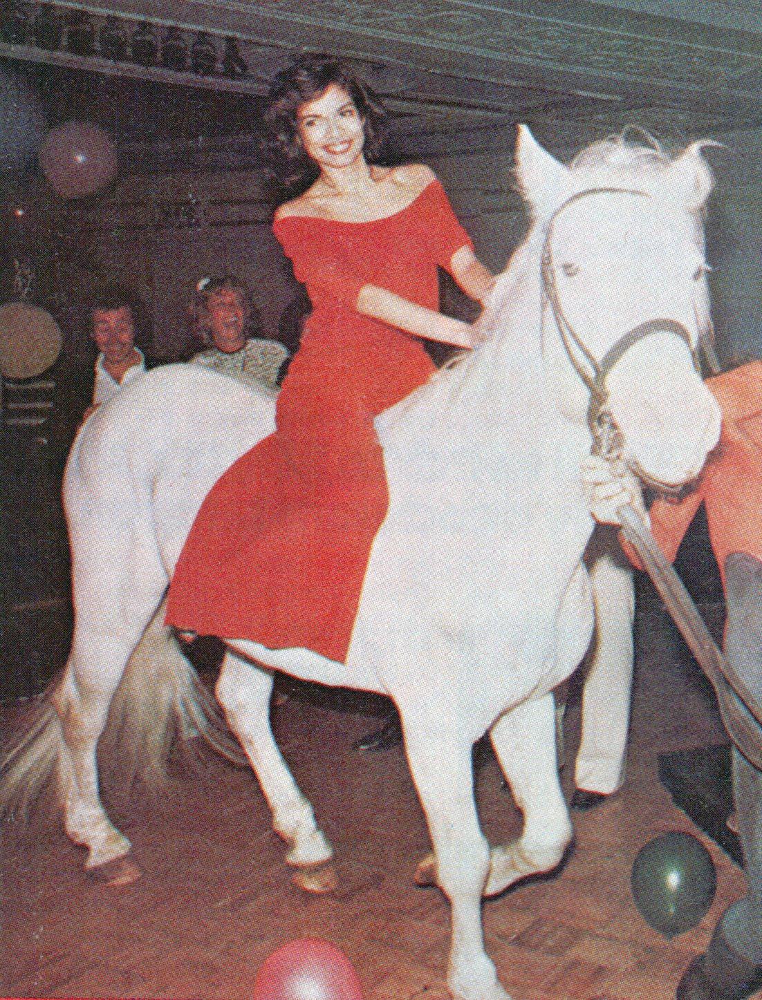 bianca jagger horse studio 54 halston
