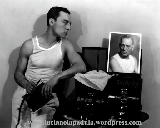 Buster Keaton moda storia cinema fashion history blog wordpress sexy men canottiera undershirt gay love attore silent movie libro scrittore luciano lapadula creepy makeup 20s 30s