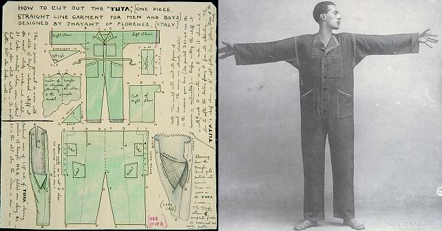 Thayahtnel giugno 1920 tuta storia moda futurismo fashion luciano lapadula