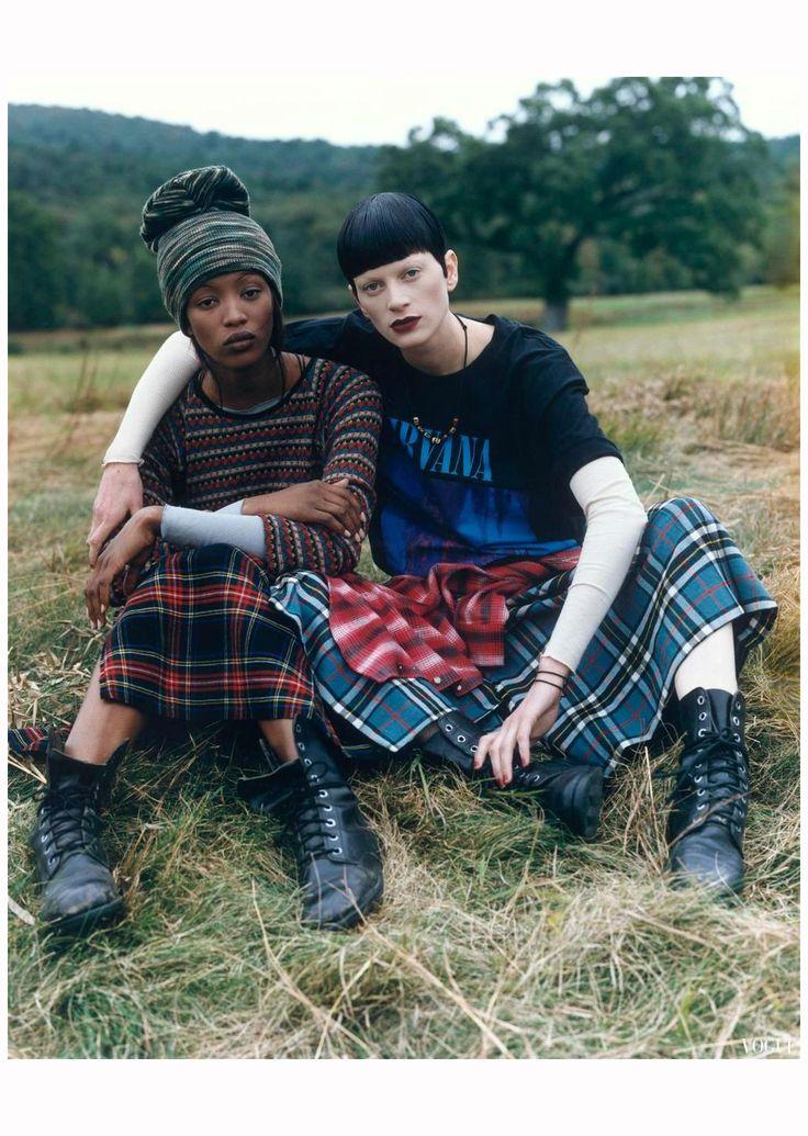 Vogue (US) December 1992 Naomi Campbell & Kristen McMenamy Steven Meisel