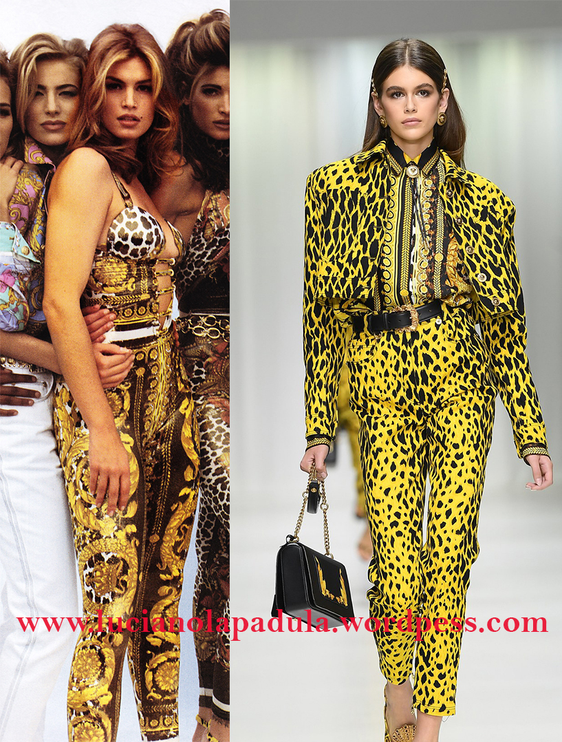 cindy crawford 90s daughter model kaia gerber comparison anorexic blog luciano lapadula blogger fashion expert history versace animal print