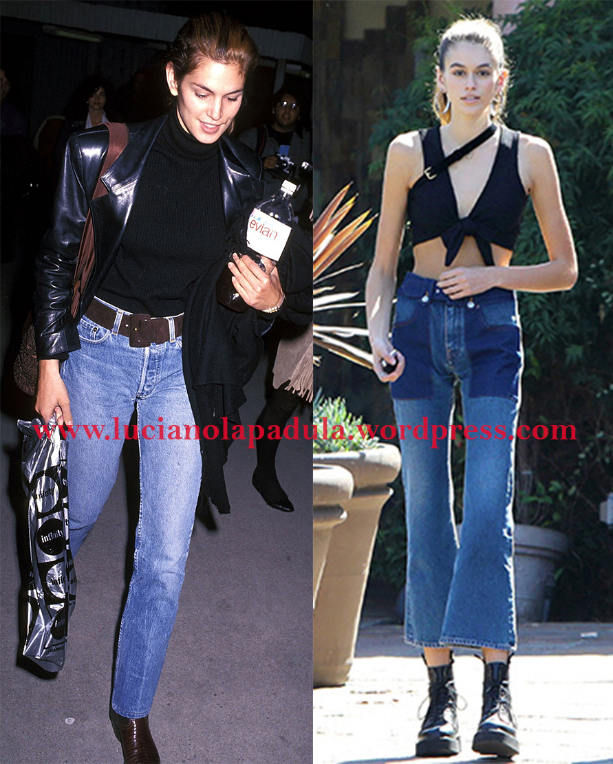 cindy crawford 90s daughter model kaia gerber comparison anorexic blog luciano lapadula blogger fashion expert history versace backstage denima anoressia