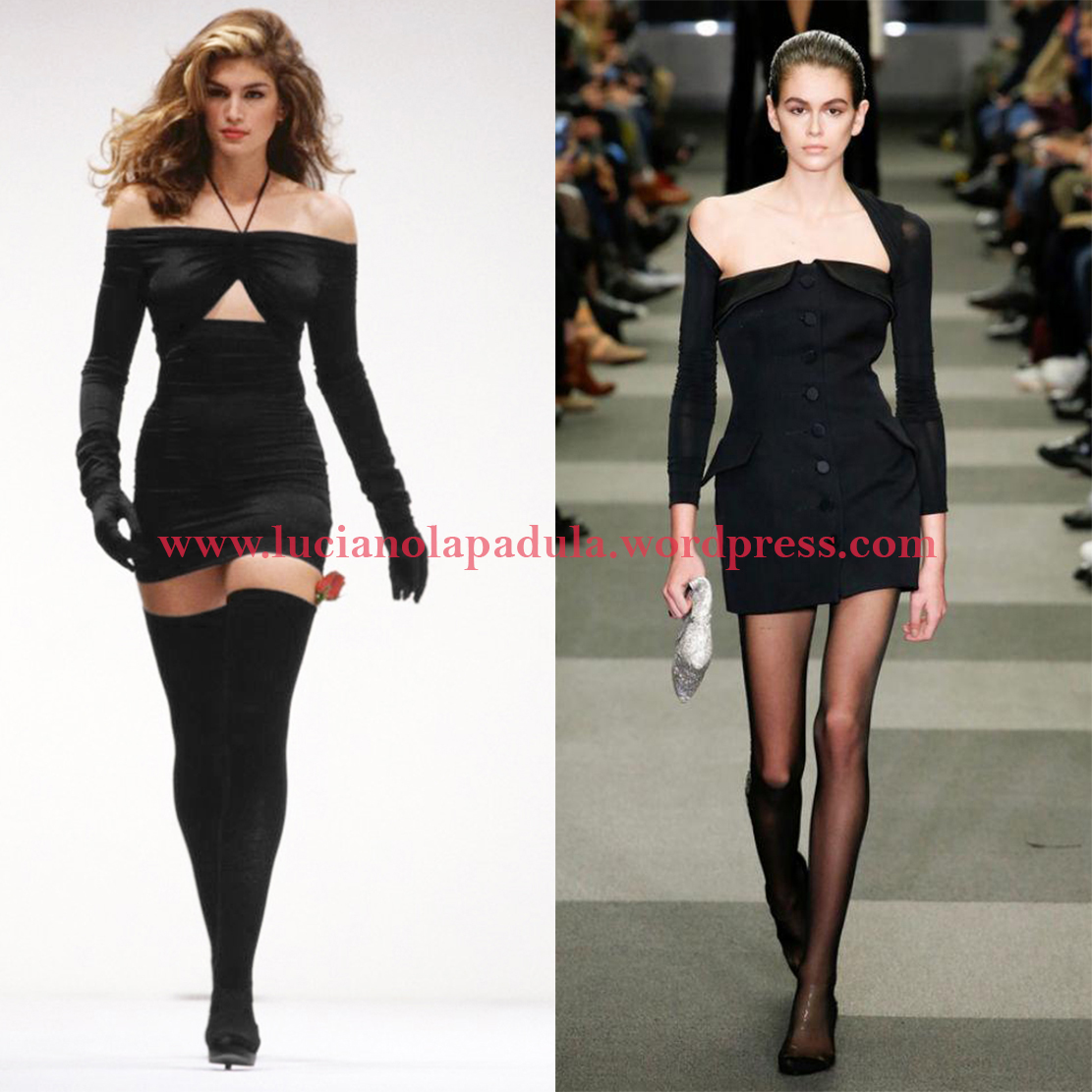 cindy crawford 90s daughter model kaia gerber comparison anorexic blog luciano lapadula blogger fashion expert history versace black