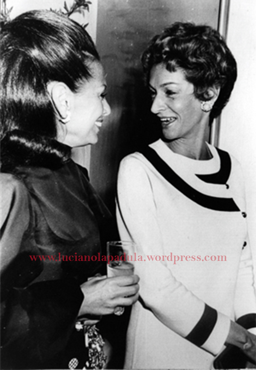 Princess Galitzine and Marella Agnelli, Atelier Galitzine inauguration day in Veneto street, Rome