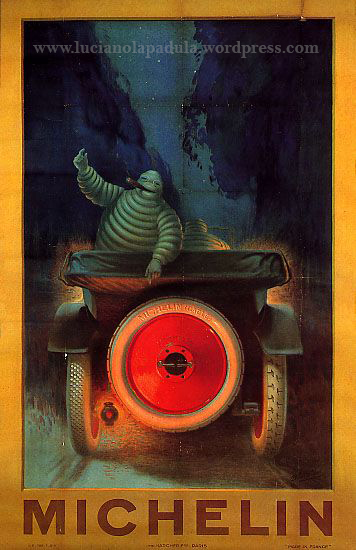 vintage creepy adv blog luciano lapadula michelin 1900 20s design graphic fashion art historian writer