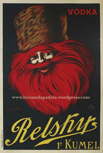 vintage creepy adv blog luciano lapadula piss 1900 20s design graphic fashion art historian writer rasputin vodka