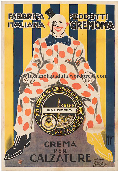 vintage creepy adv blog luciano lapadula sinf orco 1900 20s design graphic fashion art historian writer clown circus