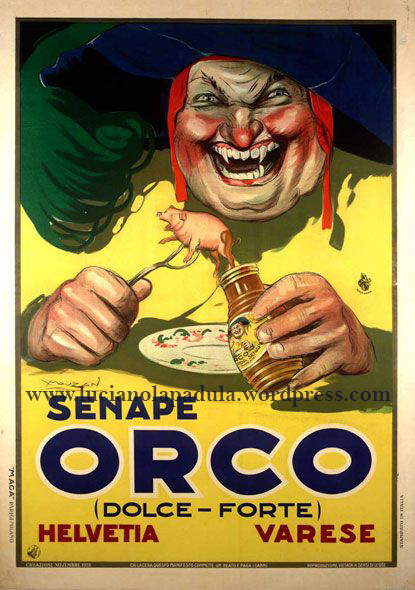 vintage creepy adv blog luciano lapadula sinf orco 1900 20s design graphic fashion art historian writer