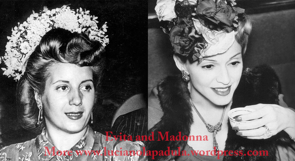 madonna as evita peron dresses same fashion dress fur fashion cinema movie history moda gown dior fendi white suit tailleur christian hat flowers