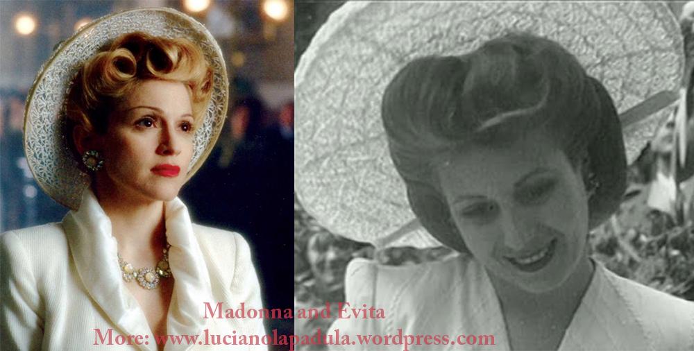 madonna as evita peron dresses same fashion dress fur fashion cinema movie history moda gown dior fendi white suit tailleur christian hat
