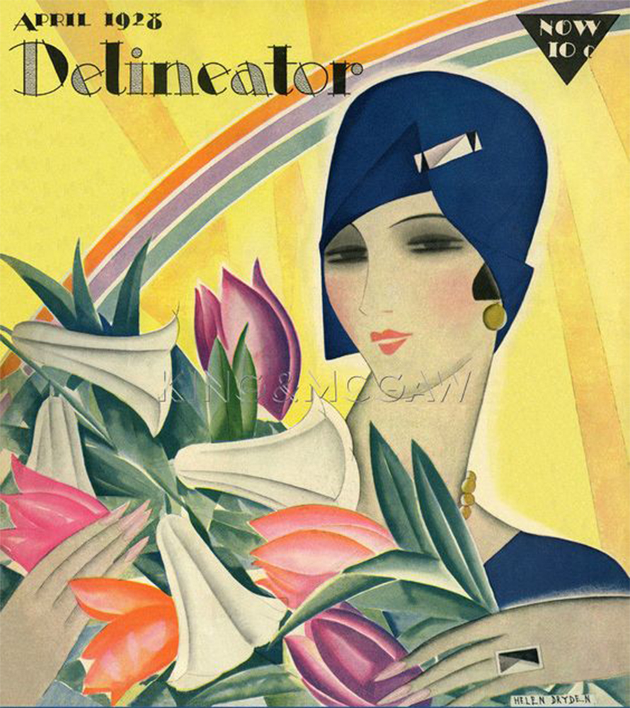 spring 1928 vintage fashion cover design illustration history blog blogger luciano lapadula moda storia cultura magazine art