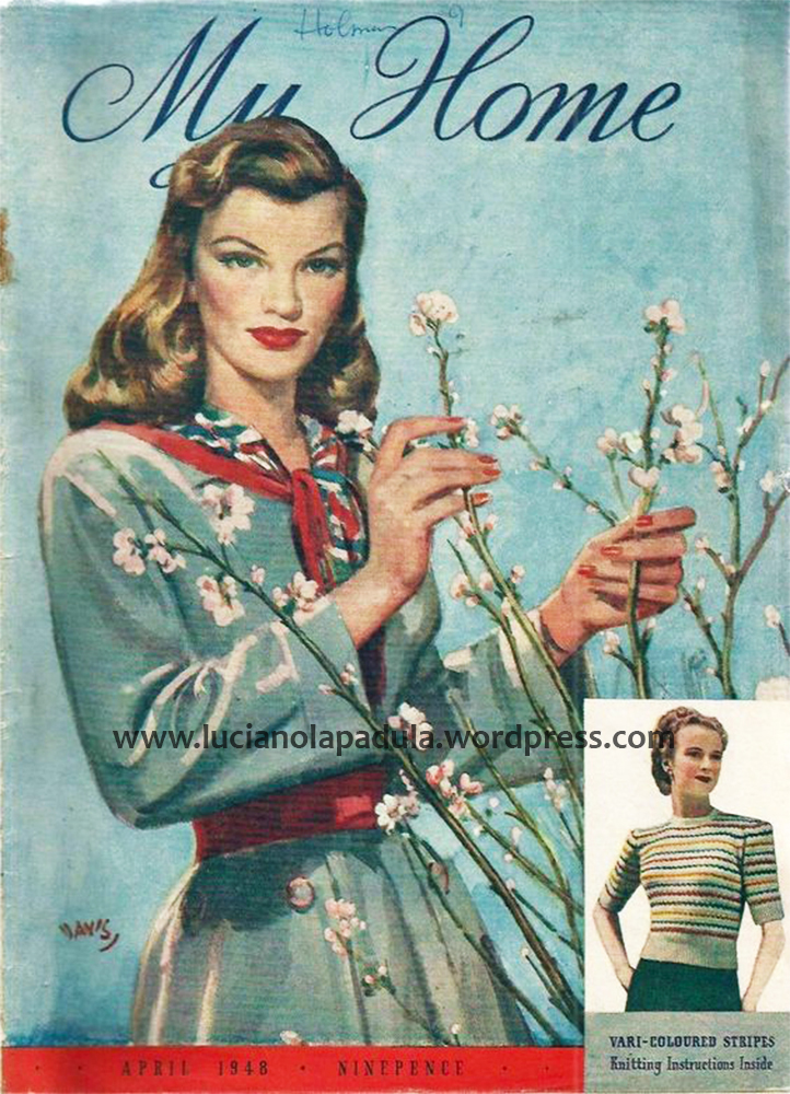 spring 2018 vintage fashion cover design illustration history blog blogger luciano lapadula moda storia cultura magazine art 1948 my home