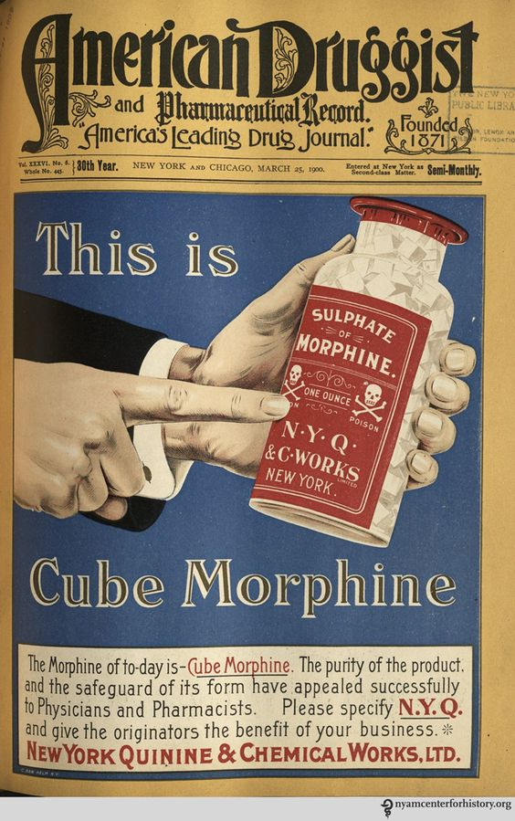 morphine history of drug droga belle eopque 1800 victorian 1890 1900 blog fashion moda blogger storia tools ad vintage illustration cube