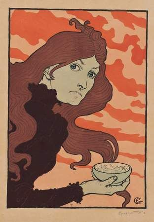 morphine history of drug droga belle eopque 1800 victorian 1890 1900 blog fashion moda blogger storia tools ad vintage illustration Eugène Grasset La vitrioleuse (1894)