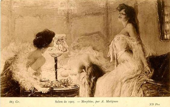Salon, 1905 Morphine. by A. Matignon