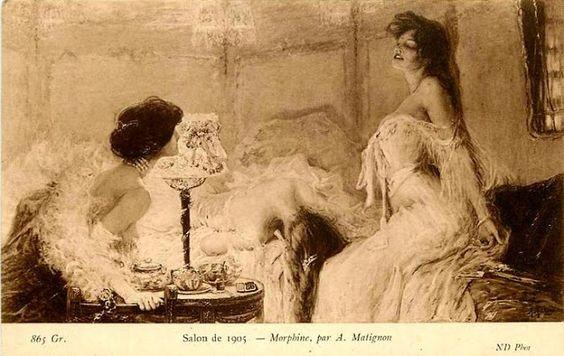 Salon, 1905 Morphine. by A. Matignon