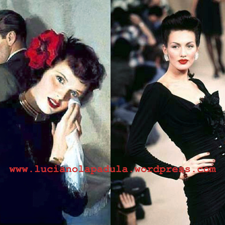 andrew loomis supermodel 90s 40s hairstyle makeup art blog fashion museum storia luciano lapadula moda yves saint laurent ss summer 1996 90er