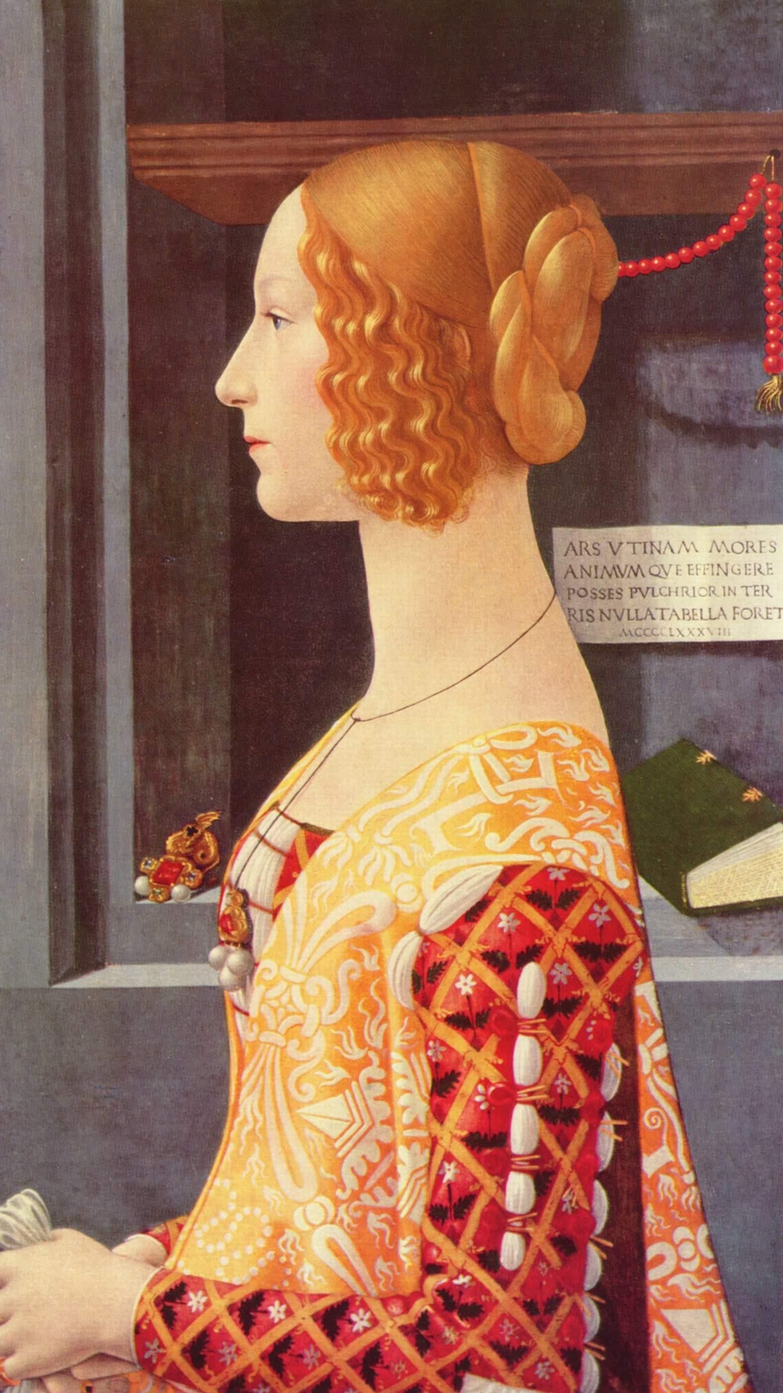 Portrait of Giovanna degli Albizzi Tornabuoni by Domenico Ghirlandaio c1488