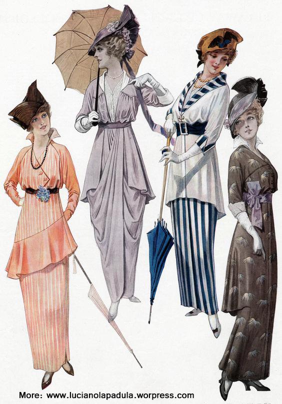 stripes history fashion blog magazine blogger 1910 1900s 1914 1915 art arte moda storia luciano lapadula costume scrittore blogger quadro magazine illusyration plates