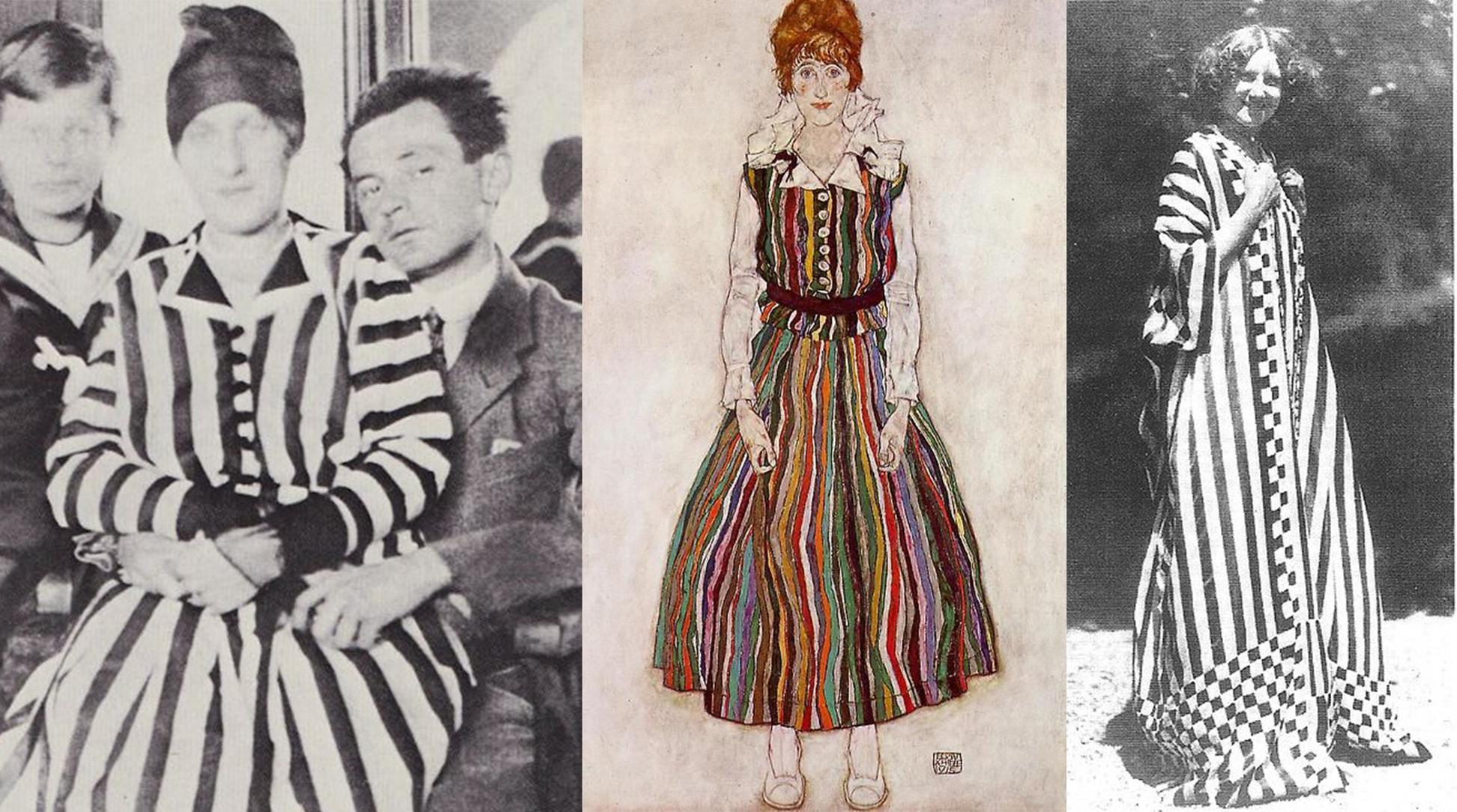 stripes history fashion blog magazine blogger 1910 1900s 1914 1915 art arte moda storia luciano lapadula costume scrittore blogger quadro schiele arte museo lgano ferrara piacenza