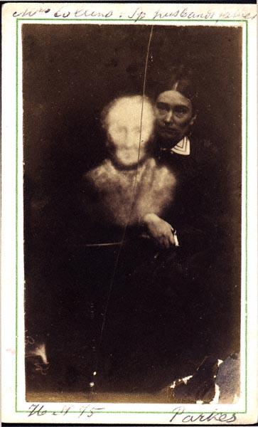 M. Parkes (England), Mrs. Collins & Her Husband's Father, Recognized by Several, Albumen carte de visite, 1875