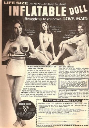 blow up doll advertisement