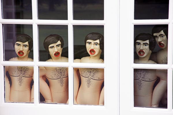 installation view of Sex Dolls, 2011, at Serpentine Gallery, London, 2013