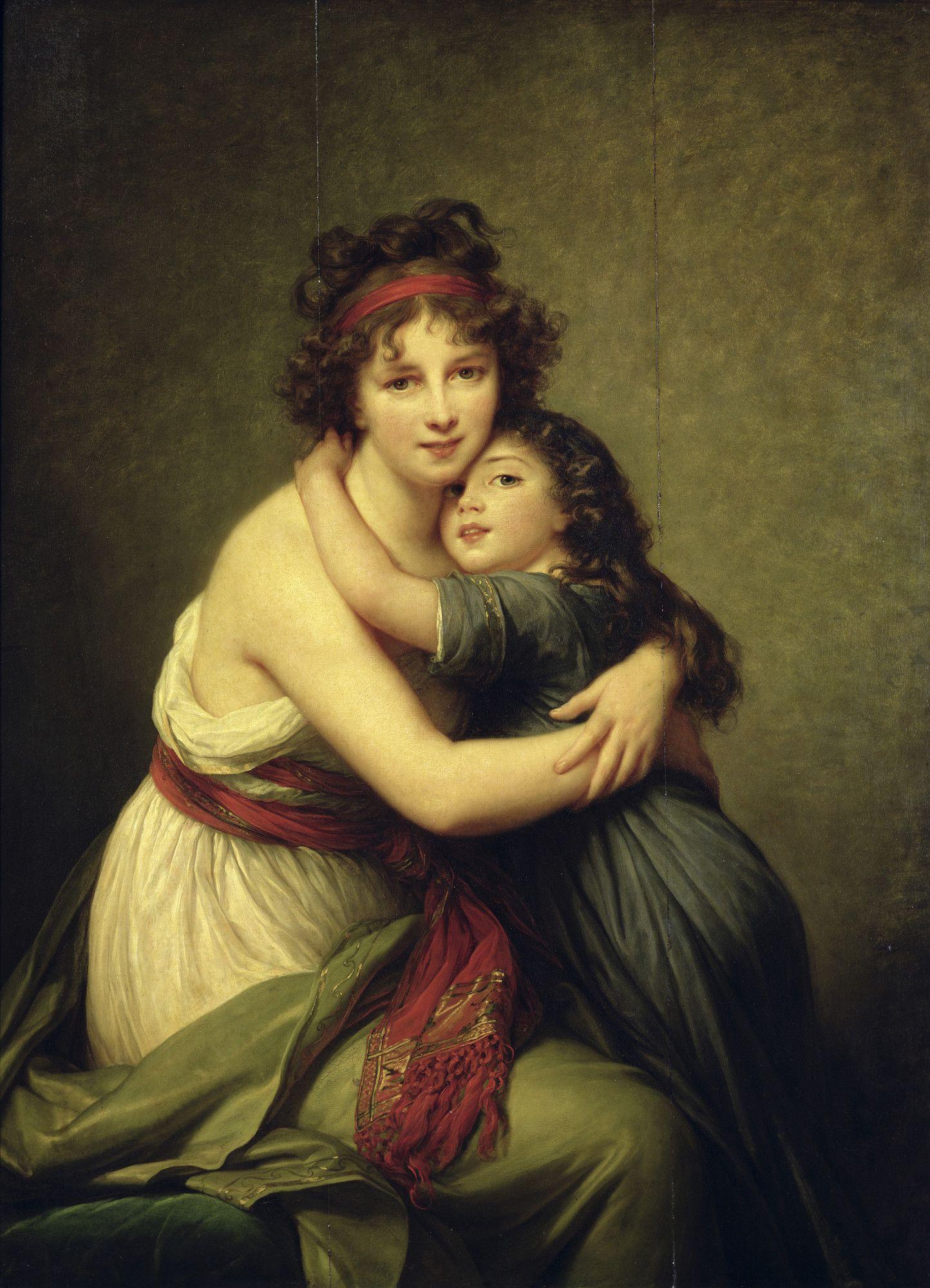 Elisabeth Louise Vigee Lebrun And Her Daughter 1789