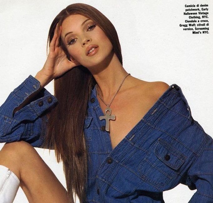 90s Make-Up history fashion makeup blog the lux on luciano lapadula kate moss 1992