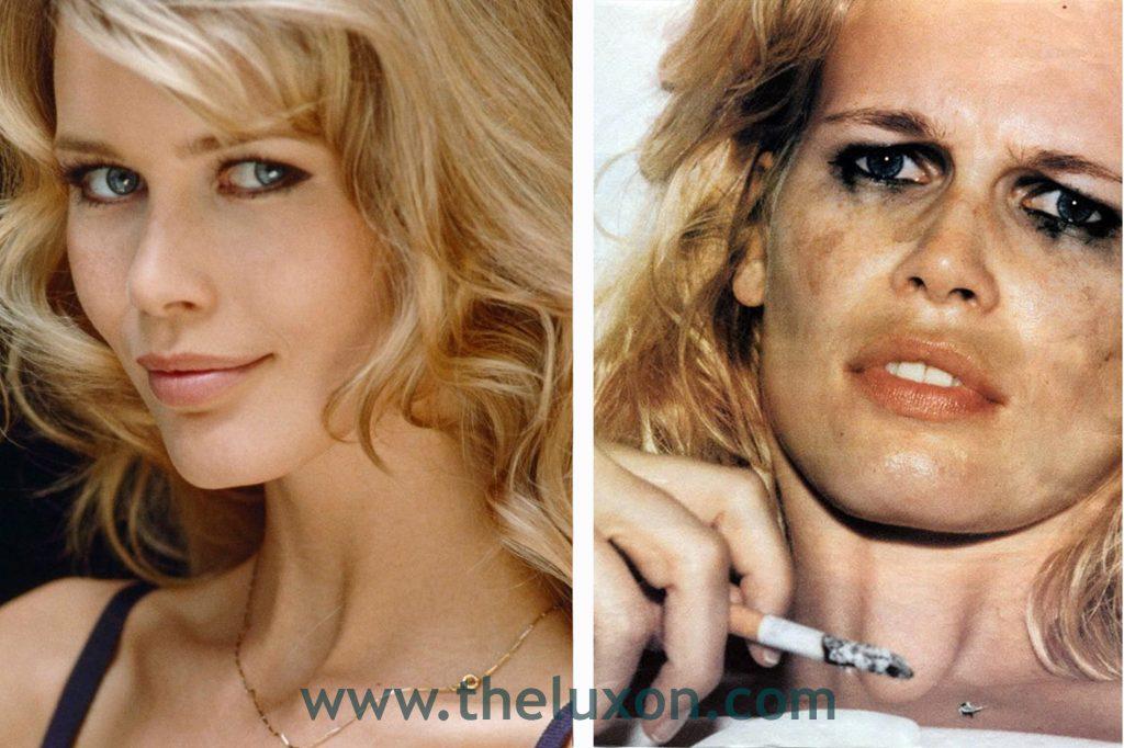 90s Make-Up history fashion makeup blog luciano lapadula supermodel claudia shciffer