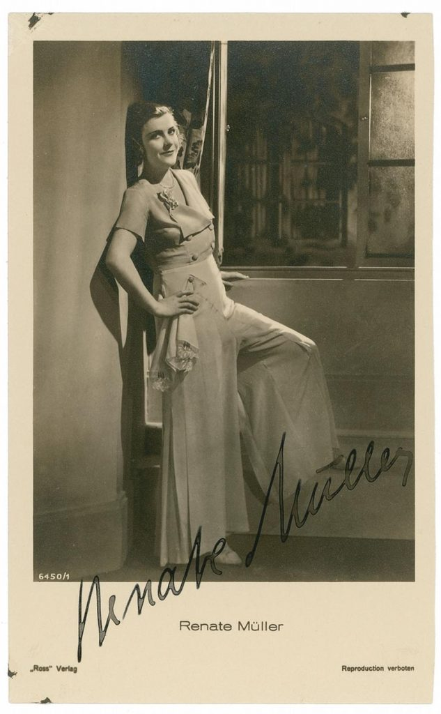 renate muller actress nazi nazism 30s 40s death cinema pajamas fashion