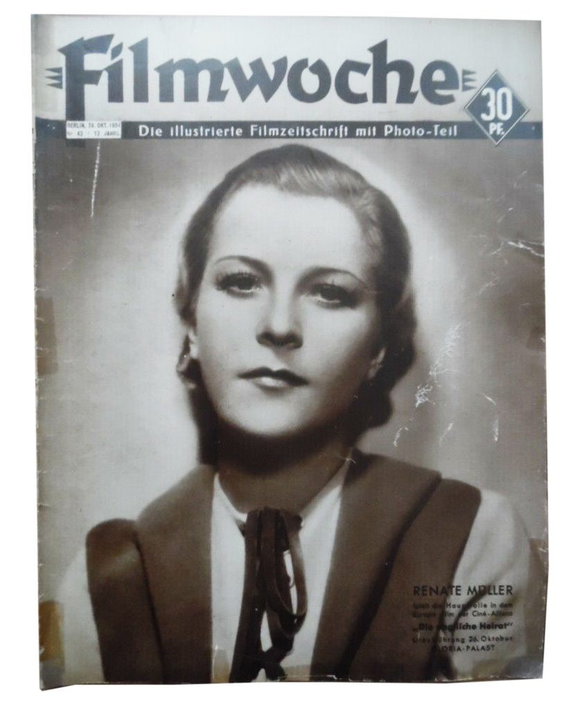 renate muller actress nazi nazism 30s 40s death cinema magazine hitler