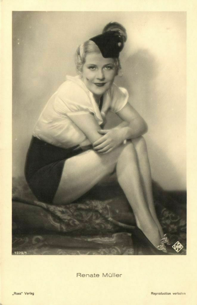 renate muller actress nazi nazism 30s 40s death cinema pinup pin up