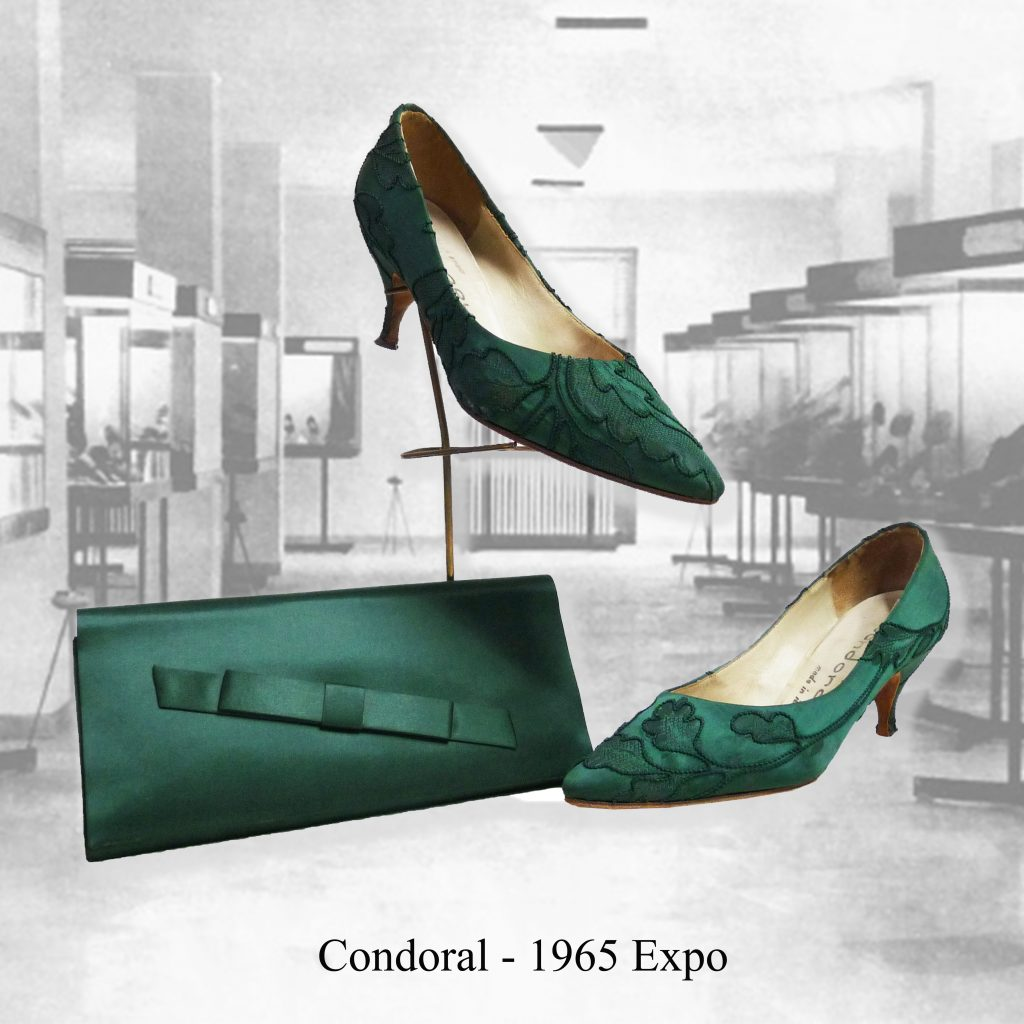 vintage shoes made in italy 60s stiletto silk chaussures condoral 1965 museo moda fashion vintage museum 1960s new look vivier