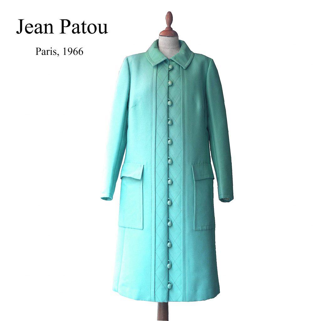 jean patou 60s vintage coat dress fashion archives clothing museum lerario lapadula