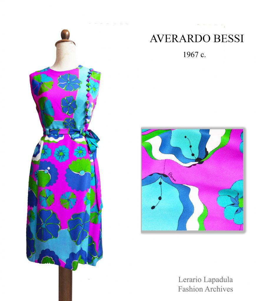 60s dress vintage averardo bessi robe floral spring summer 1960s 1967  fashion museum archives lerario lapadula emilio pucci kleid