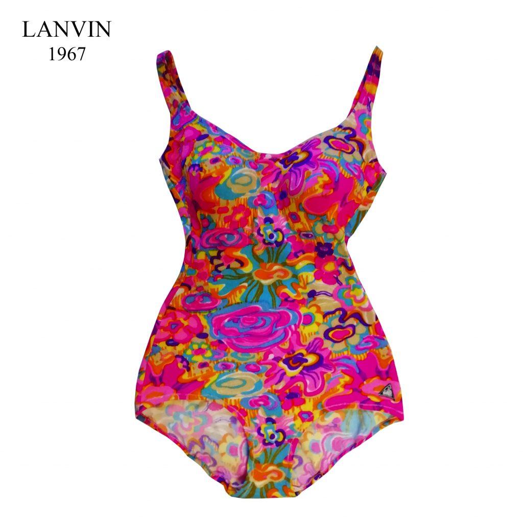 lanvin swimsuit pink bath suit fashion museum vintage clothing