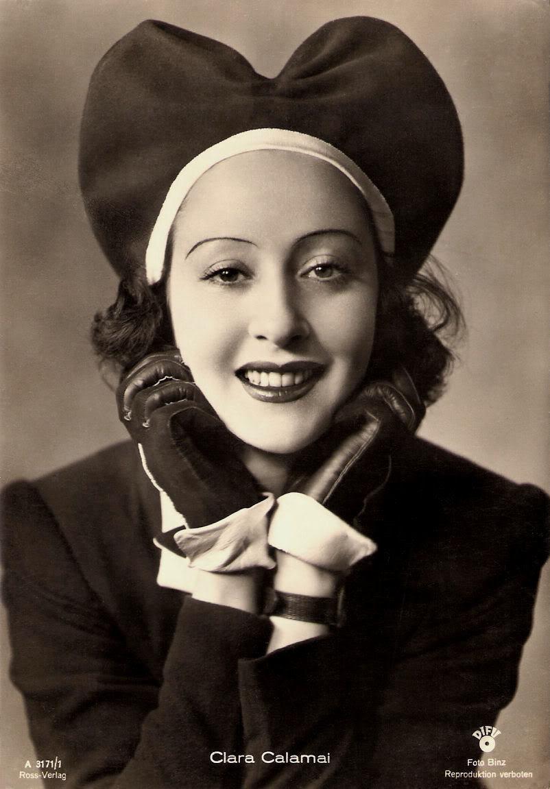 clara calamai 1940s 40s nazi fascim cinema actress weird hat millinery fashion history the lux on 30s