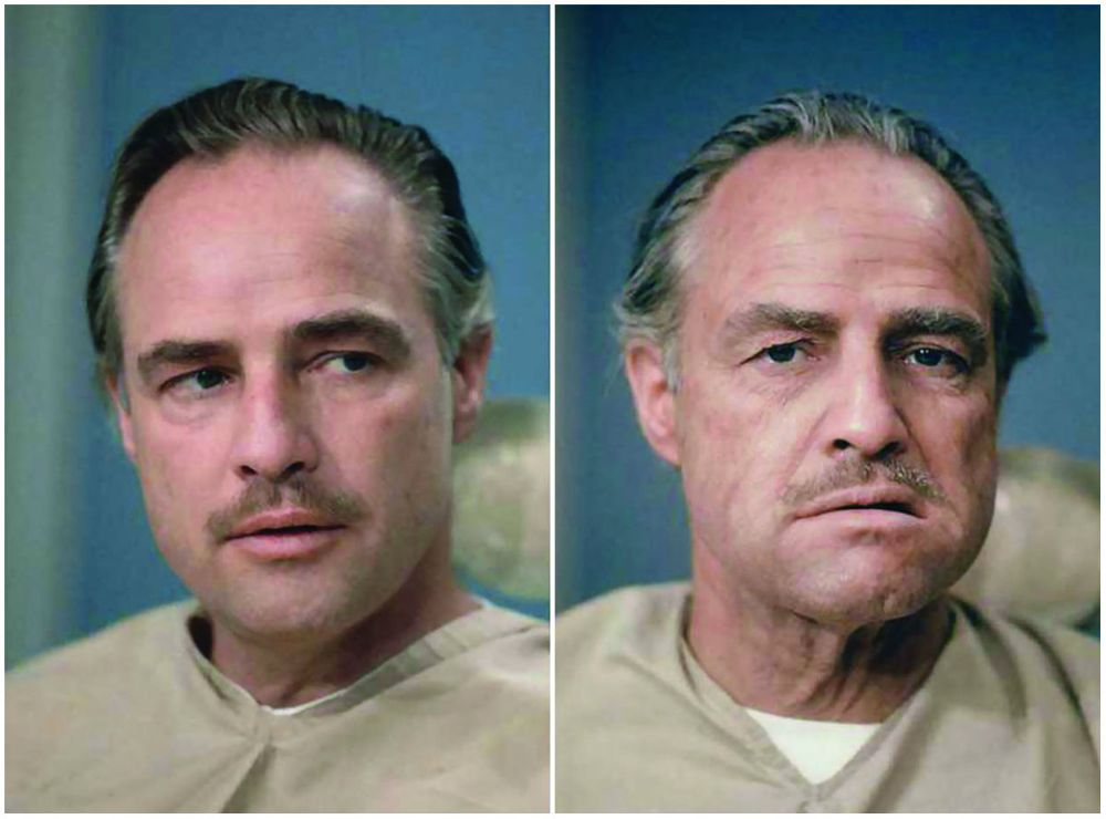 The Godfather movie marlon brando before after